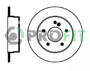 Задний тормозной диск 'PROFIT 5010-0539'.