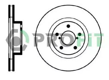 Вентилируемый передний тормозной диск на SUBARU IMPREZA 'PROFIT 5010-0679'.