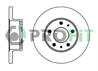 Передний тормозной диск на CITROEN JUMPER 'PROFIT 5010-0758'.