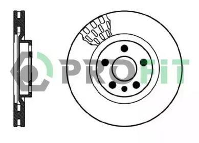 Вентилируемый передний тормозной диск на Дефендер 'PROFIT 5010-0760'.