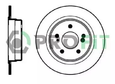 Задний тормозной диск на MERCEDES-BENZ E-CLASS 'PROFIT 5010-0819'.