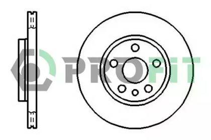 Вентилируемый передний тормозной диск на Пежо Експерт 'PROFIT 5010-0842'.