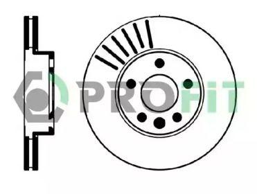 Вентилируемый передний тормозной диск на Форд Гелакси 'PROFIT 5010-0846'.