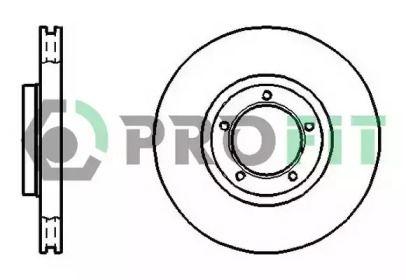 Вентилируемый передний тормозной диск на FORD TRANSIT TOURNEO 'PROFIT 5010-0848'.