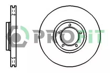 Вентилируемый передний тормозной диск на Форд Транзит Турнео 'PROFIT 5010-0849'.