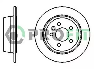 Задний тормозной диск на MERCEDES-BENZ VITO 'PROFIT 5010-0861'.