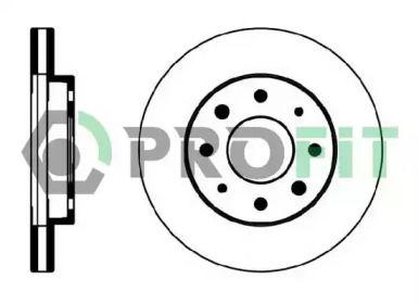 Вентилируемый передний тормозной диск на Вольво С40 'PROFIT 5010-0885'.