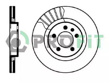 Вентилируемый передний тормозной диск на VOLKSWAGEN BORA 'PROFIT 5010-0928'.