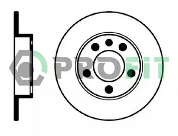 Задний тормозной диск на VOLKSWAGEN POLO 'PROFIT 5010-0929'.