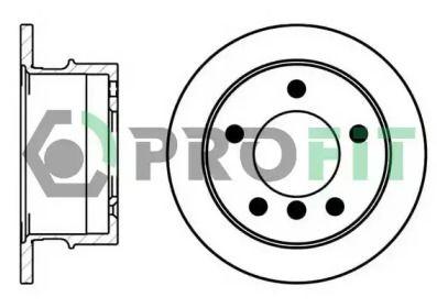 Задний тормозной диск на Мерседес Спринтер 'PROFIT 5010-0931'.