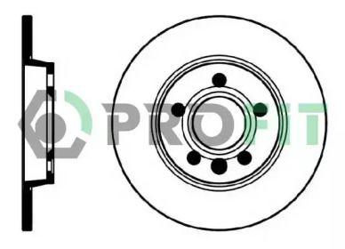 Задний тормозной диск на Сеат Альхамбра 'PROFIT 5010-1012'.
