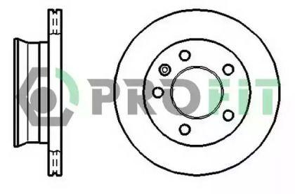 Вентилируемый передний тормозной диск на Мерседес Спринтер 'PROFIT 5010-1013'.