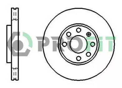 Вентилируемый передний тормозной диск на OPEL ZAFIRA 'PROFIT 5010-1041'.