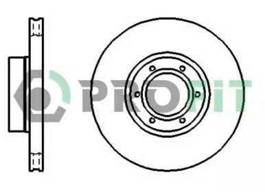 Вентилируемый передний тормозной диск на Опель Мовано 'PROFIT 5010-1067'.