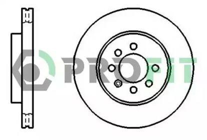 Вентилируемый передний тормозной диск на Дэу Нубира 'PROFIT 5010-1097'.