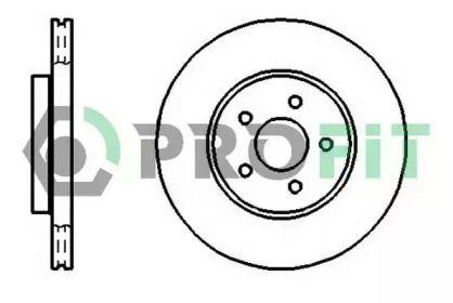 Вентилируемый передний тормозной диск на JAGUAR X-TYPE 'PROFIT 5010-1125'.