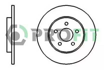 Задний тормозной диск на FORD MONDEO 'PROFIT 5010-1126'.