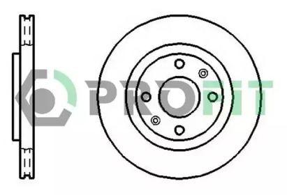 Вентилируемый передний тормозной диск на CITROEN C4 'PROFIT 5010-1140'.