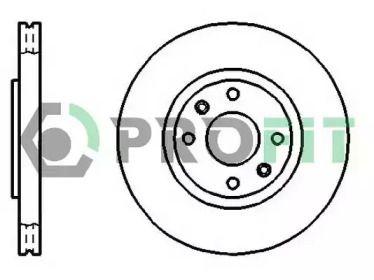 Вентилируемый передний тормозной диск на Ситроен ДС4 'PROFIT 5010-1152'.