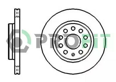 Вентилируемый передний тормозной диск на LANCIA PHEDRA 'PROFIT 5010-1165'.