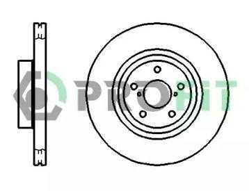 Вентилируемый передний тормозной диск на SUBARU IMPREZA 'PROFIT 5010-1175'.