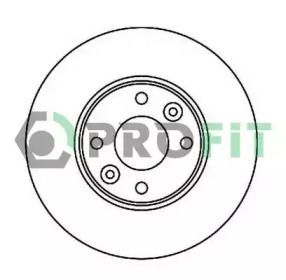 Вентилируемый передний тормозной диск на Ниссан Микра 'PROFIT 5010-1201'.