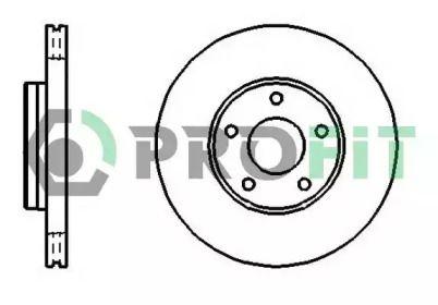 Вентилируемый передний тормозной диск на VOLVO C30 'PROFIT 5010-1222'.