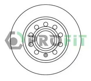 Задний тормозной диск на SEAT LEON 'PROFIT 5010-1224'.