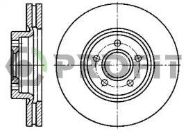 Вентилируемый передний тормозной диск на FORD KUGA 'PROFIT 5010-1225'.