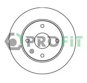 Вентилируемый передний тормозной диск на CHEVROLET EVANDA 'PROFIT 5010-1257'.