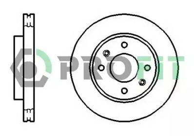 Вентилируемый передний тормозной диск на Хендай Матрикс 'PROFIT 5010-1270'.