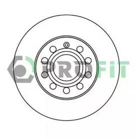 Задний тормозной диск на SKODA SUPERB 'PROFIT 5010-1276'.