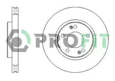 Вентилируемый передний тормозной диск на HYUNDAI I30 'PROFIT 5010-1300'.