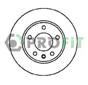 Вентилируемый передний тормозной диск на Мазда 5 'PROFIT 5010-1311'.
