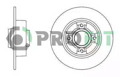 Задний тормозной диск на NISSAN NOTE 'PROFIT 5010-1369'.