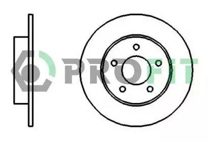 Задний тормозной диск на NISSAN ALMERA 'PROFIT 5010-1383'.