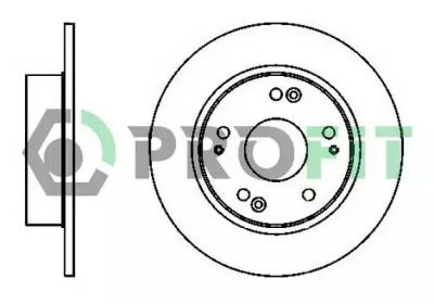 Задний тормозной диск на Хонда Аккорд 'PROFIT 5010-1390'.