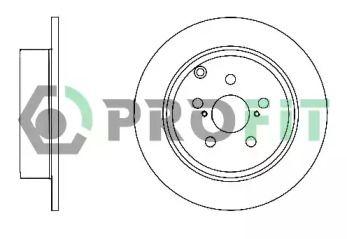 Задний тормозной диск на TOYOTA AVENSIS 'PROFIT 5010-1406'.