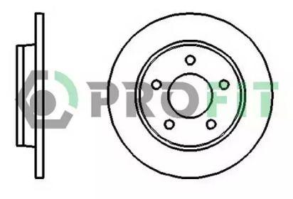 Задний тормозной диск 'PROFIT 5010-1420'.