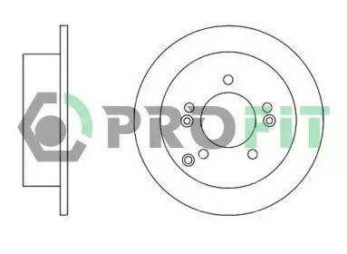 Задний тормозной диск на HYUNDAI TUCSON 'PROFIT 5010-1447'.