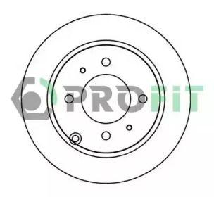Задний тормозной диск на HYUNDAI MATRIX 'PROFIT 5010-1448'.