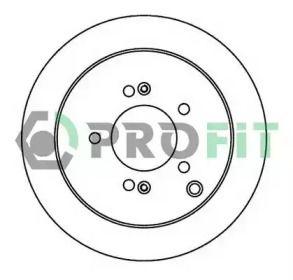 Задний тормозной диск на HYUNDAI IX35 'PROFIT 5010-1493'.