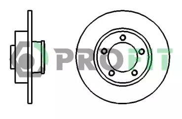 Задний тормозной диск на RENAULT TRAFIC 'PROFIT 5010-1498'.