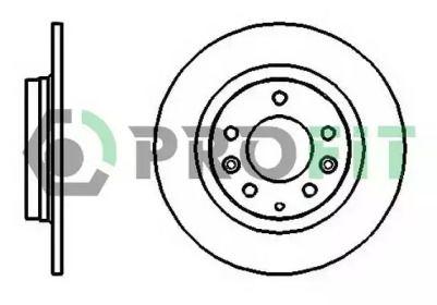 Задний тормозной диск на MAZDA 323 'PROFIT 5010-1500'.