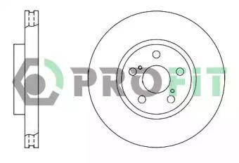 Вентилируемый передний тормозной диск на Тайота Авенсис 'PROFIT 5010-1508'.