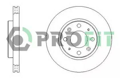 Вентилируемый передний тормозной диск на KIA CERATO 'PROFIT 5010-1528'.