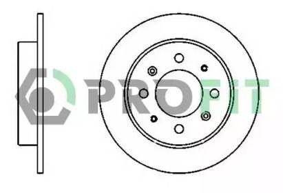 Задний тормозной диск на KIA CERATO 'PROFIT 5010-1541'.