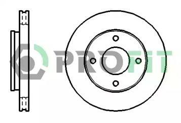 Вентилируемый передний тормозной диск на SMART FORFOUR 'PROFIT 5010-1621'.