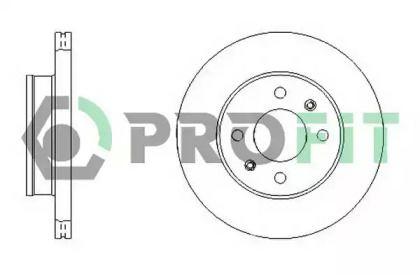 Вентилируемый передний тормозной диск на HYUNDAI ACCENT 'PROFIT 5010-1632'.