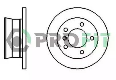 Задний тормозной диск на Мерседес Спринтер 'PROFIT 5010-2001'.